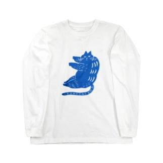 夏の猫 Long sleeve T-shirts