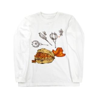 最中の金魚 Long sleeve T-shirts
