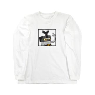 M=らくがき‐ハコカブト(C-2) Long sleeve T-shirts