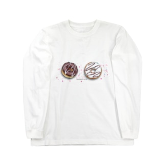 チョークアート ドーナツ Long sleeve T-shirts