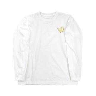 可愛いセキセイインコ おすましちゃん【まめるりはことり】 Long sleeve T-shirts