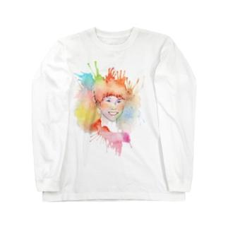 Colorful Portrait Long sleeve T-shirts