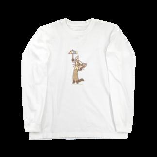 ザ・ワタナバッフルのテン「雨かしら?」 Long sleeve T-shirts