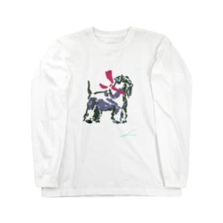【schnauzer】 Long sleeve T-shirts