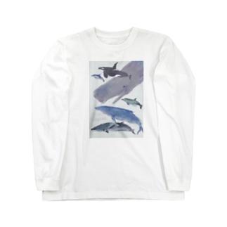 くじらー Long sleeve T-shirts