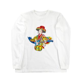 琉球ROCK(琉球衣装女子) Long sleeve T-shirts