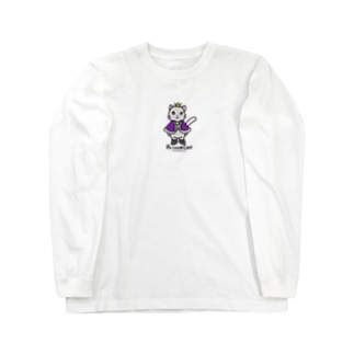 ねこの王子様*紫 Long sleeve T-shirts