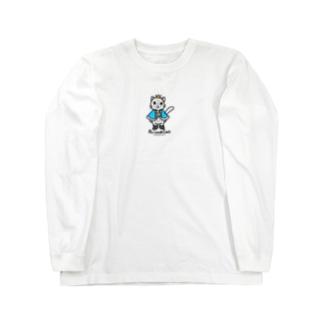 ねこの王子様*ブルー Long sleeve T-shirts