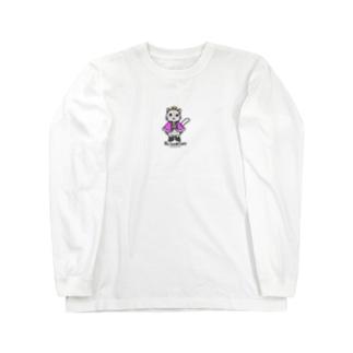 ねこの王子様*ピンク Long sleeve T-shirts