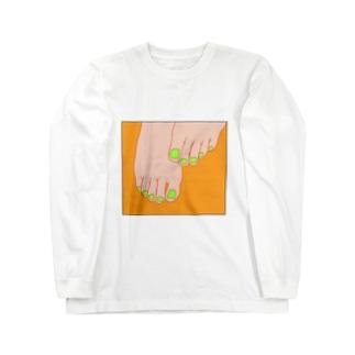 TUMASAKI オレンジ×ライム Long sleeve T-shirts