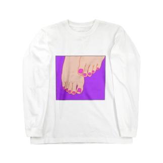 TUMASAKI ヴァイオレット×マゼンタ Long sleeve T-shirts