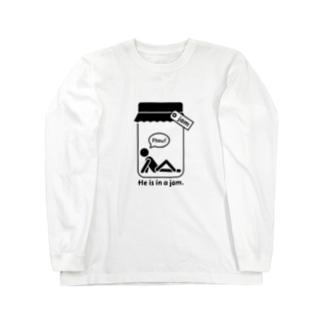 おもしろ英語表現(be in a jam) Long sleeve T-shirts