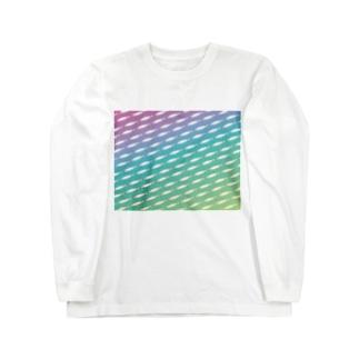 レインボーワカサギ Long sleeve T-shirts
