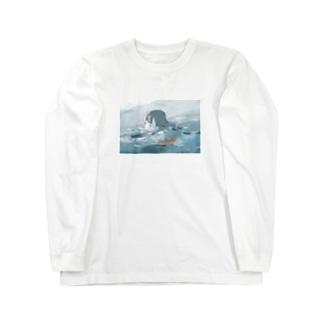 ザブザブ〜 Long sleeve T-shirts