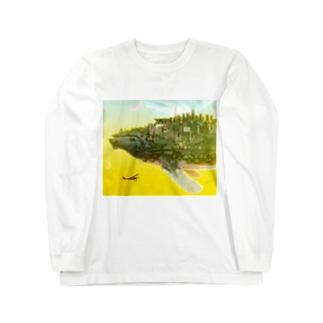 くじらの惑星 Long sleeve T-shirts