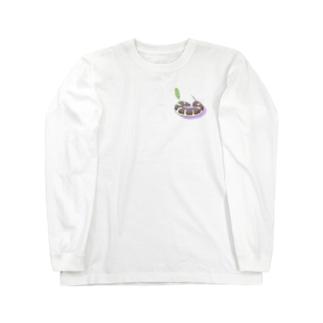 丸まるセスジスズメTシャツパーカーシリーズ Long sleeve T-shirts