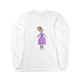 うすむらさきのおんな Long sleeve T-shirts