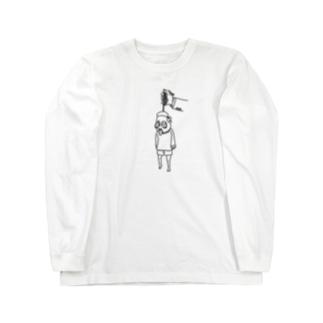 びぃがた洋服店のJISATSUWATASATSU Long sleeve T-shirts