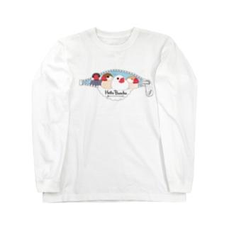 文鳥の窓 Long sleeve T-shirts