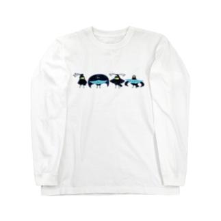 キクチミロのフウチョウコンビ Long sleeve T-shirts
