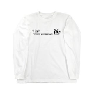 綱引き犬 Long sleeve T-shirts