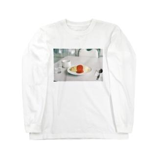 旅先のオムライス Long sleeve T-shirts