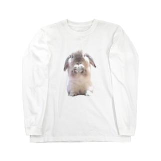 おねだりしろちゃん Long sleeve T-shirts
