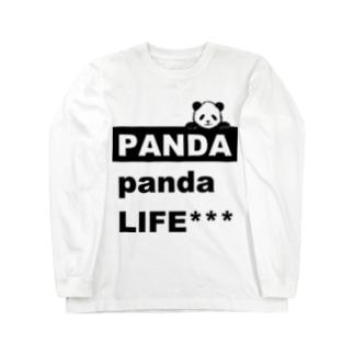 のぞきこみパンダ Long sleeve T-shirts