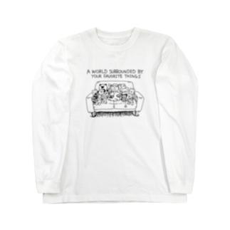 大好きなモノに囲まれた世界 Long sleeve T-shirts