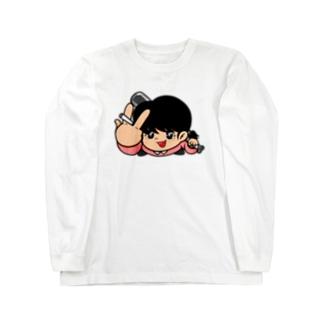 ですがぁる 文字無し Long sleeve T-shirts