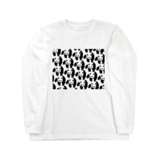 ぞろぞろパンダ Long sleeve T-shirts