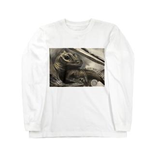 tashiroriekoホカケトカゲ Long sleeve T-shirts