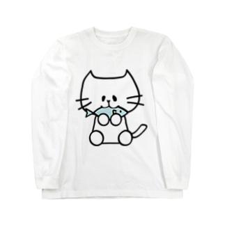 はらぺこにゃんこ Long sleeve T-shirts