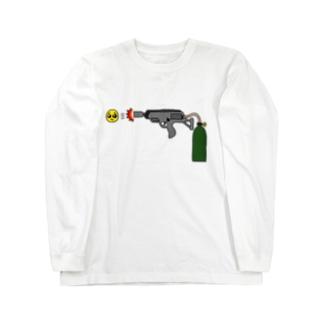 ぴえん放射器 Long sleeve T-shirts