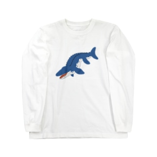 モササウルス Long sleeve T-shirts