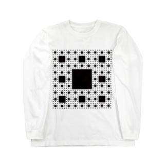 Fractal Sierpinski Carpet Long sleeve T-shirts