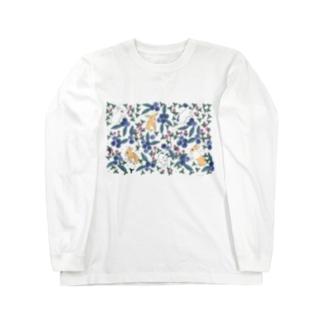 ぶるぶるブルーベリー Long sleeve T-shirts