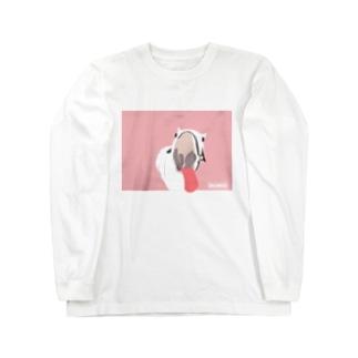 ブーモ👅ピンク Long sleeve T-shirts
