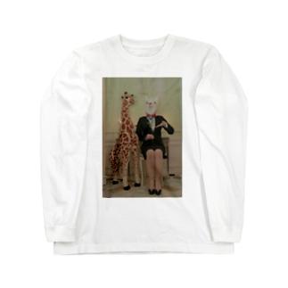 ののなずのアルパカとキリンの勧誘 Long sleeve T-shirts