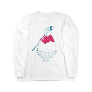 かき氷サトイモ Long sleeve T-shirts