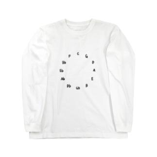 五度圏 / Circle of fifth Long sleeve T-shirts