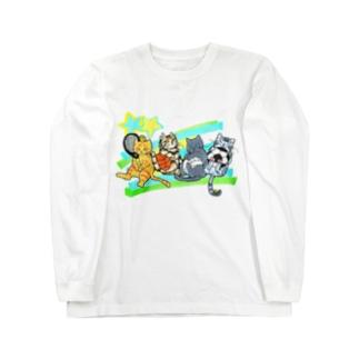 ネコリンピック✨球技 Long sleeve T-shirts