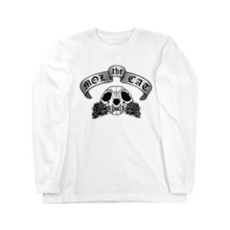 猫スカル Long sleeve T-shirts