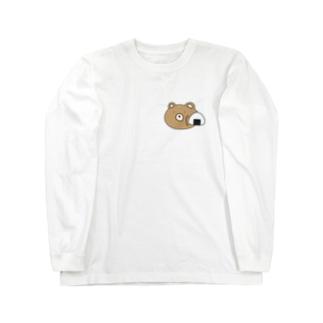 おにぎりに絡まれている熊 Long sleeve T-shirts