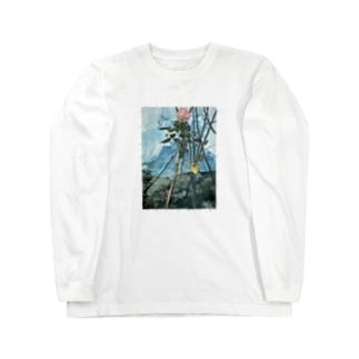 トゲのある絵 Long sleeve T-shirts
