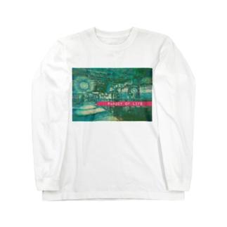 助けてさんの生命のパロディ Long sleeve T-shirts