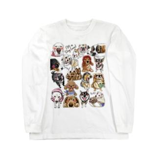 犬に夢中(クリア) Long sleeve T-shirts