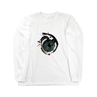ア(宇宙)ヲシテ文字 Long sleeve T-shirts