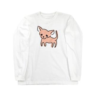 ゆるチワワ(オレンジ) Long sleeve T-shirts
