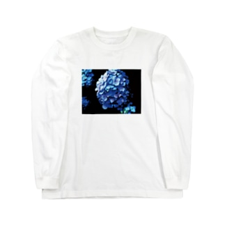 紫陽花 Long sleeve T-shirts